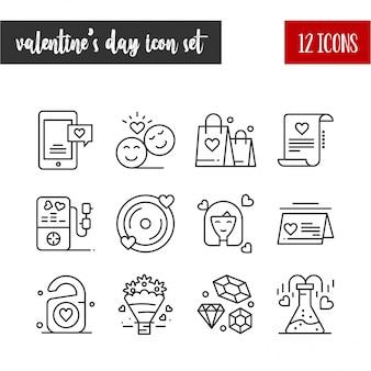 С днем святого валентина наброски 12 иконок