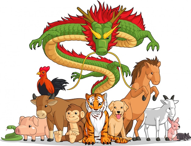 Все 12 животных китайского зодиака вместе
