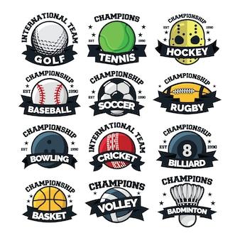スポーツ12ロゴベクトル