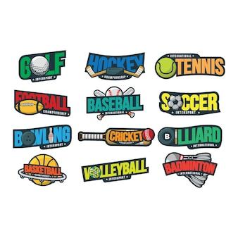 12スポーツロゴのベクトル図