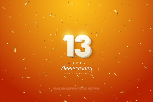 13-я годовщина со светящейся цифрой наверху.