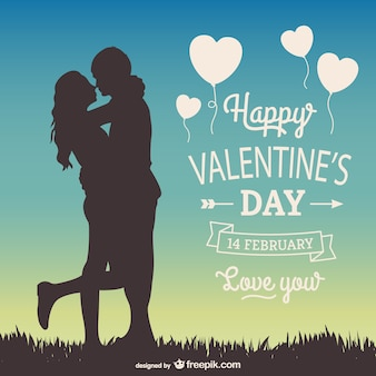 14 февраля открытка