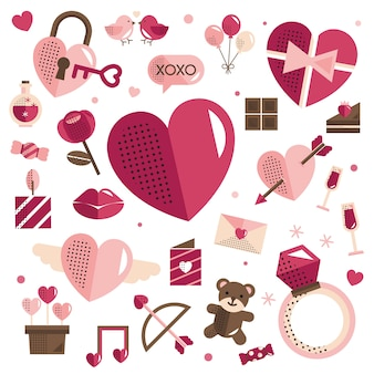 День святого валентина 14 февраля вектор