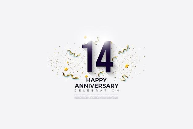 14-летие с числами и праздником.