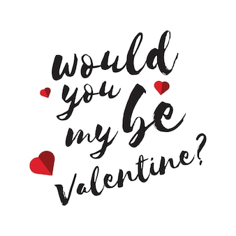 14th february valentine day typographic lettering art in free vector