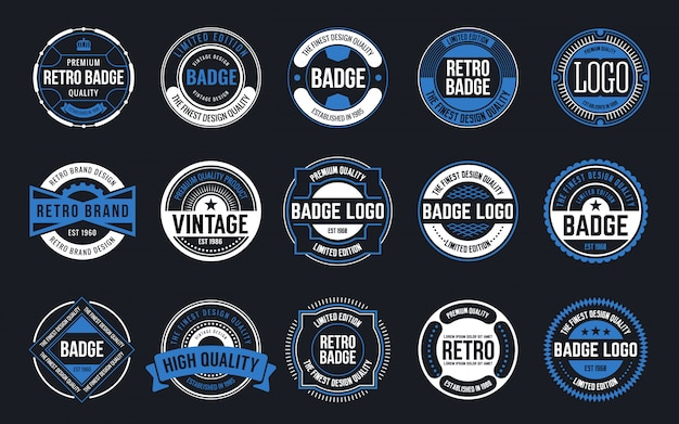 15 retro vintage badges design collection