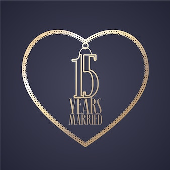 15 years anniversary of being married