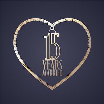15 лет свадьбы Premium векторы
