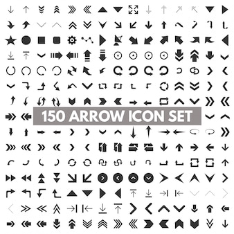 150 arrow icon set