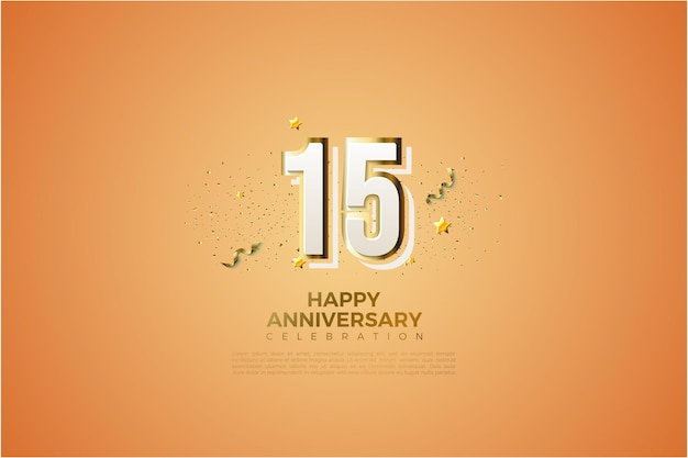 15th anniversary background with graphity numbers.