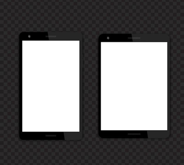 Планшеты с пустыми экранами, разным соотношением сторон 16:10 и 4: 3