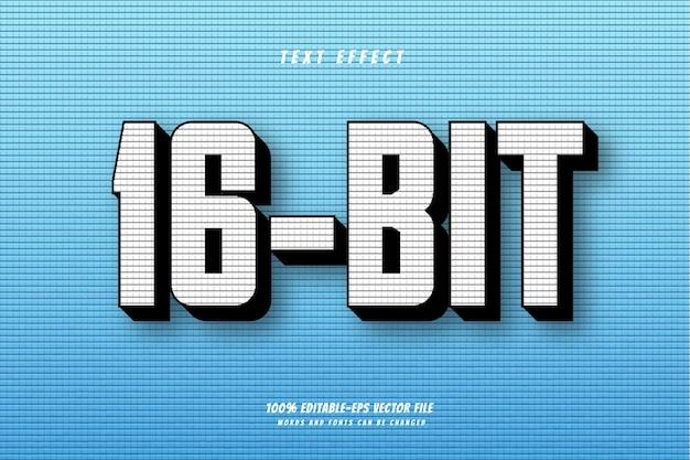 16-битный текстовый эффект, векторный дизайн, 100% редактируемый векторный файл eps, слова и шрифты могут быть изменены.