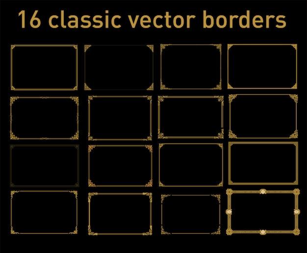 16 classic vector borders