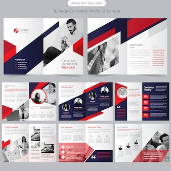 16 page brochure template