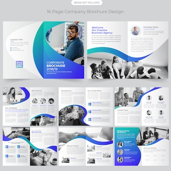 16 page company profile brochure design