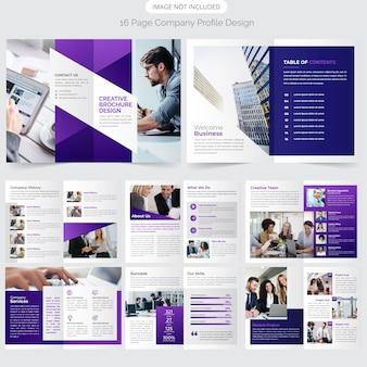 16 page company profile design