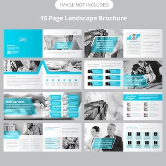 16 page landscape brochure template