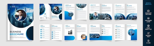 16 page modern corporate business brochure design