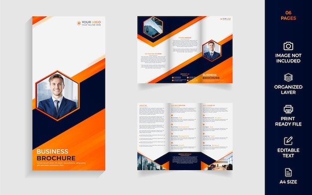 16 page modern corporate business brochure template design