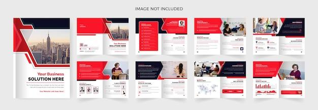 Шаблон дизайна брошюры 16 страниц многоцелевого использования тема