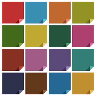 16レトロな色の空白の正方形