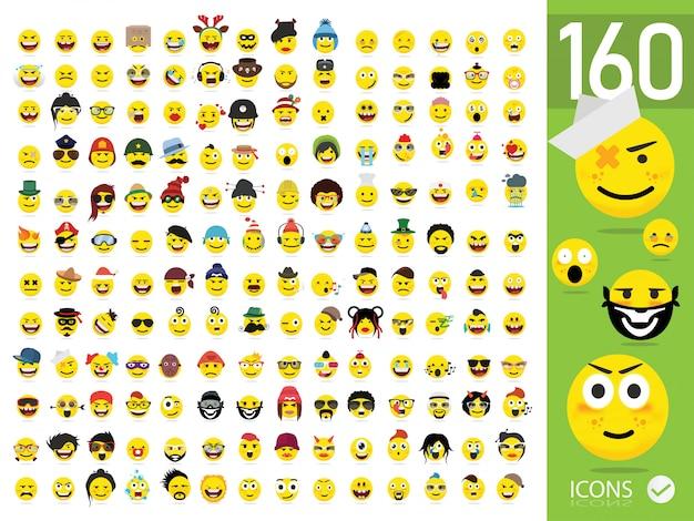 Набор из 160 emoji