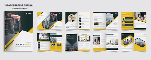 16ページのパンフレットデザイン