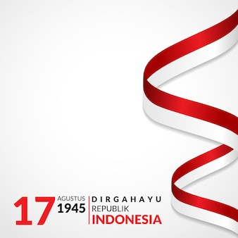 17 august. indonesia happy independence day greeting card