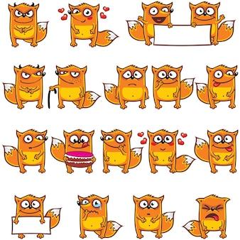 18 смайликов-лисиц, индивидуально сгруппированных для удобного копирования и вставки. (3)