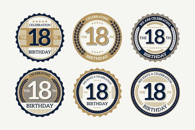 18th birthday badges