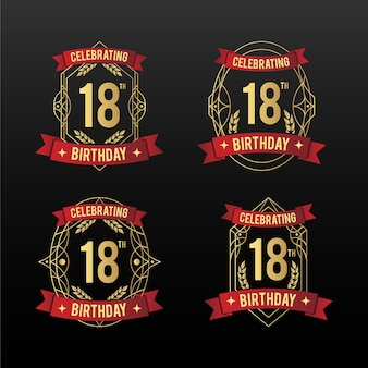 18 distintivi di compleanno
