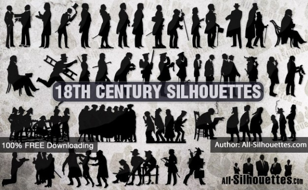 18th century silhouettes | all silhouettes