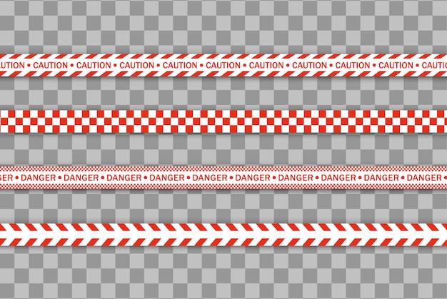 Красная полицейская линия предупреждающая лента, опасность, предупреждающая лента. ковид-19, карантин, остановка, не пересечение, граница закрыта. красно-белая баррикада. знаки опасности. карантинная зона из-за коронавируса. ,