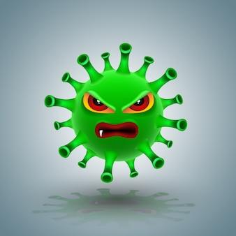 Зеленый ковид-19 персонаж
