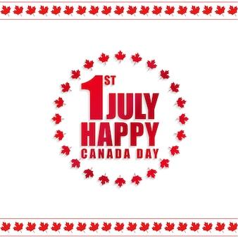 1 июля. счастливый канадский фон с листьями