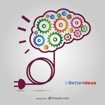 創造的なアイデアは無料でダウンロードする1ベクター