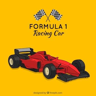 Ручная работа современной формулы 1 гоночный автомобиль