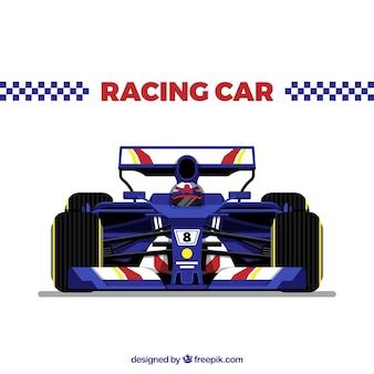 Современный гоночный автомобиль формулы 1 с плоским дизайном
