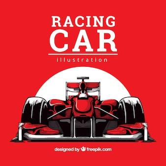 手描き式1レーシングカー