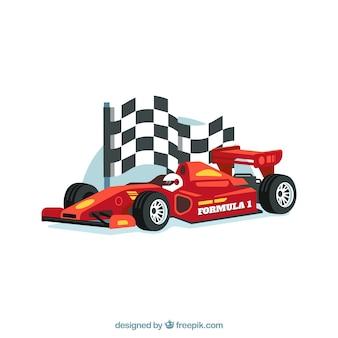 リアルなデザインの現代式1レーシングカー