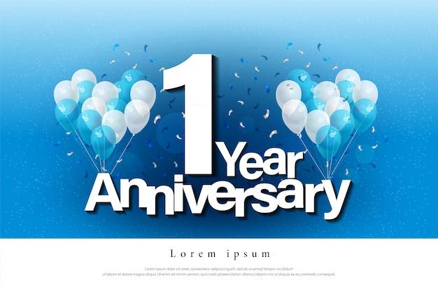 1-я годовщина поздравительных открыток