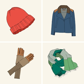 Одежда и аксессуары. набор 1