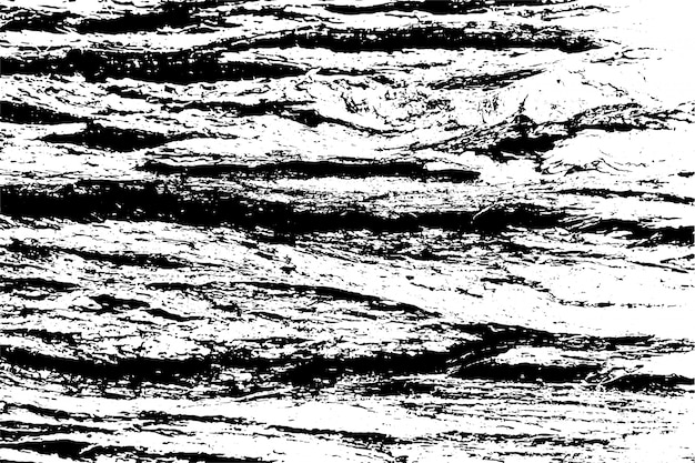 粗い表面、ひびの入った木、木の樹皮の苦しめられたオーバーレイテクスチャ。グランジ背景。 1つのカラーグラフィックリソース。