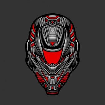 Солдатская маска 1 векторная иллюстрация