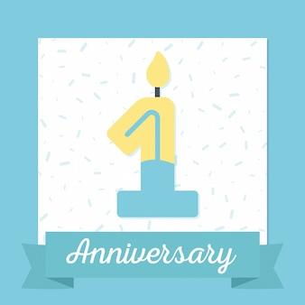 1st anniversary banner background design