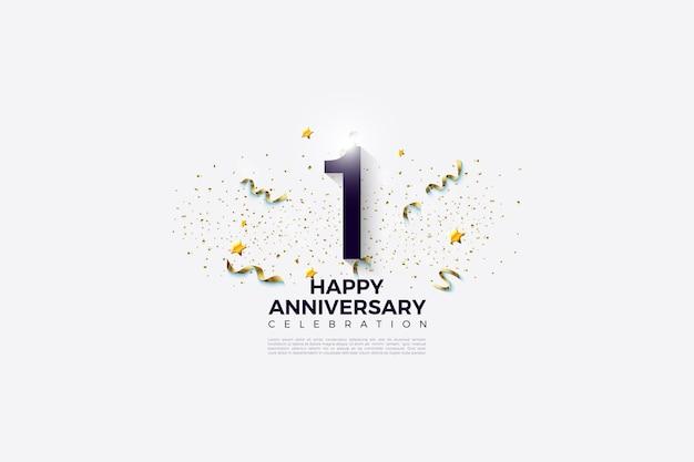 1-я годовщина с номерами и праздничными торжествами.