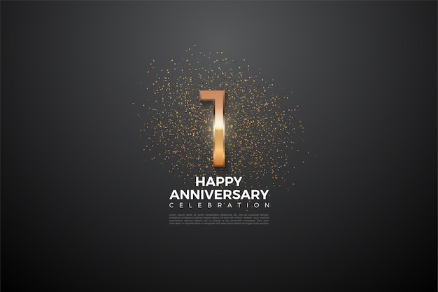 1st anniversary with numbers that glow brightly in the middle.