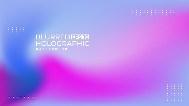 1st blur holographic design simple and modern suitable for a presentation background