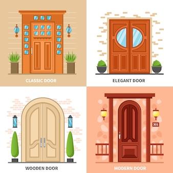 Дом двери 2х2 концепция дизайна