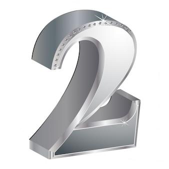 ナンバー2、3d、金属